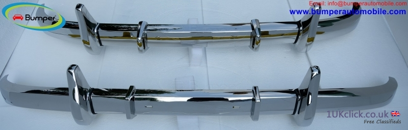 Mercedes W136 170S bumper (1949-52) by stainless s