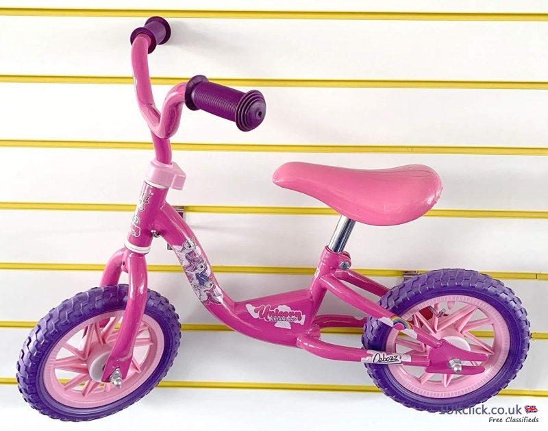 OZBOZZ UNICORN BALANCE BIKE PINK FOR GIRLS OUTDOOR