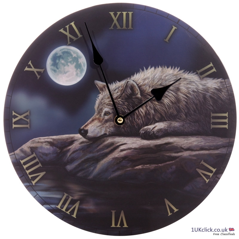 Fantasy Quiet Night of the Wolf Decorative Wall Cl